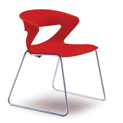 Kreature Sled Base Guest Chair Seat Color: Red