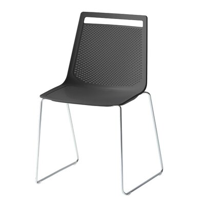 Akami Sled Base Guest Chair Seat Color: Black