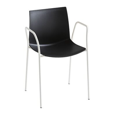 Kanvas 4 Leg Guest Chair Seat Color: Black