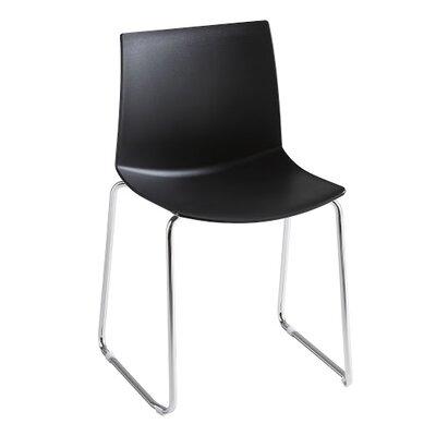 Kanvas Sled Base Guest Chair Seat Color: Black