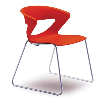 Kreature Sled Base Guest Chair Seat Color: Orange