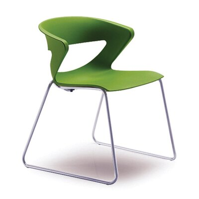 Kreature Sled Base Guest Chair Seat Color: Green