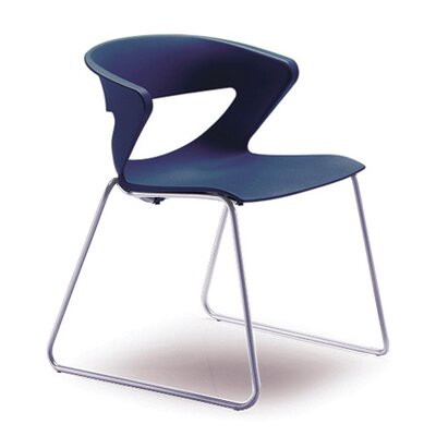 Kreature Sled Base Guest Chair Seat Color: Blue