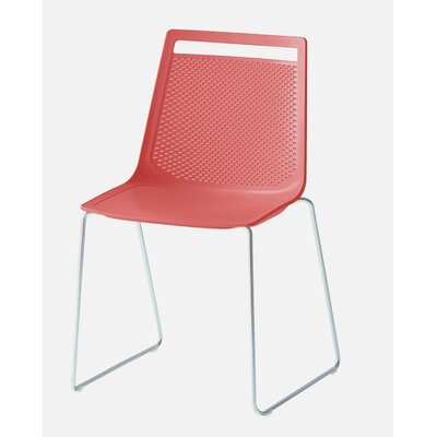 Akami Sled Base Guest Chair Seat Color: Red