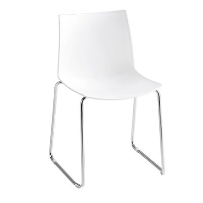 Kanvas Sled Base Guest Chair Seat Color: White