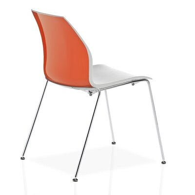Vortex 4 Leg Guest Chair Seat Color: Orange/White