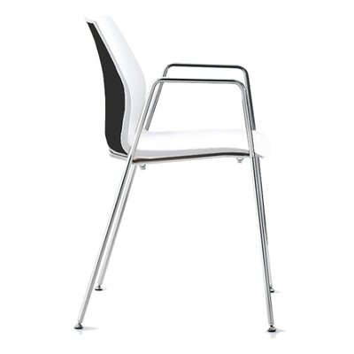 Vortex 4 Leg Guest Chair Seat Color: Black/White