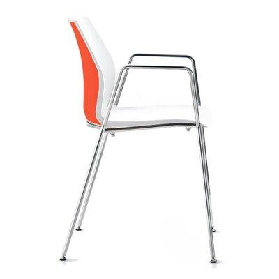 Vortex 4 Leg Guest Chair Seat Color: Orange/White