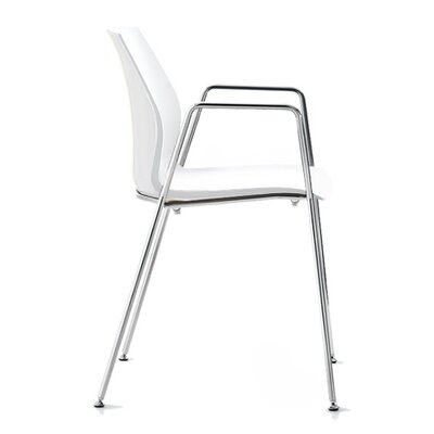 Vortex 4 Leg Guest Chair Seat Color: White
