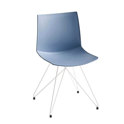 Kanvas Rocket Base Guest Chair Seat Color: Blue