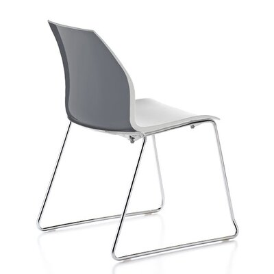 Vortex Sled Base Guest Chair Seat Color: Gray/White