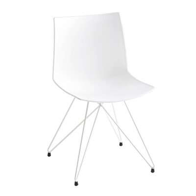Kanvas Rocket Base Guest Chair Seat Color: White
