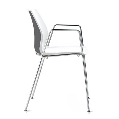 Vortex 4 Leg Guest Chair Seat Color: Gray/White