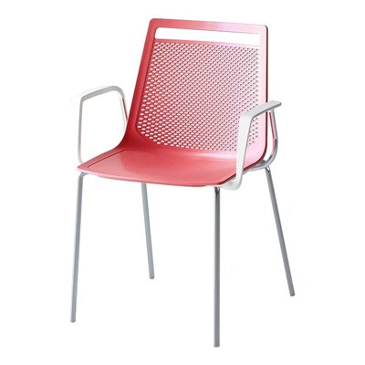 Akami Guest Chair Seat Color: Red