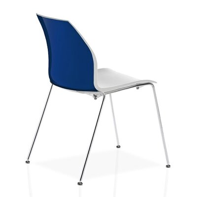Vortex 4 Leg Guest Chair Seat Color: Blue/White