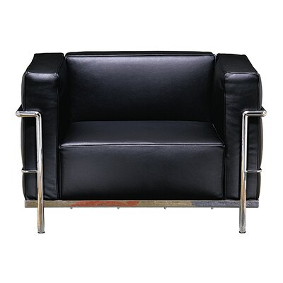 Le Corbusier Grand Firm Comfort Leather Lounge Chair Product Image 1628