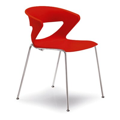 Kreature 4 Leg Guest Chair Seat Color: Red