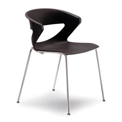 Kreature 4 Leg Guest Chair Seat Color: Black