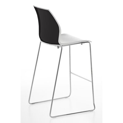 Vortex Sled Base Stool Finish: Black/White
