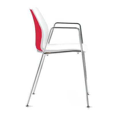 Vortex 4 Leg Guest Chair Seat Color: Red/White
