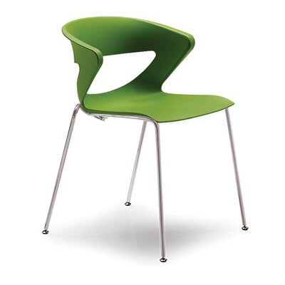 Kreature 4 Leg Guest Chair Seat Color: Green