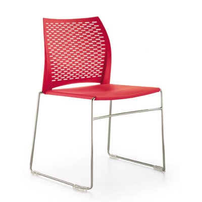 Network Sled Base Guest Chair Seat Color: Red