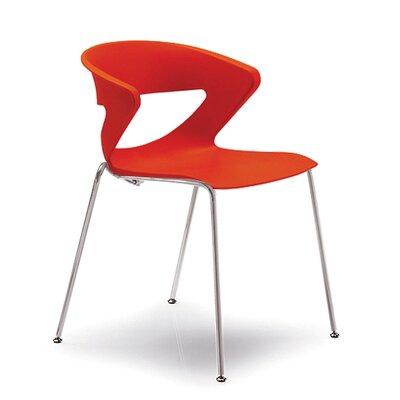 Kreature 4 Leg Guest Chair Seat Color: Orange