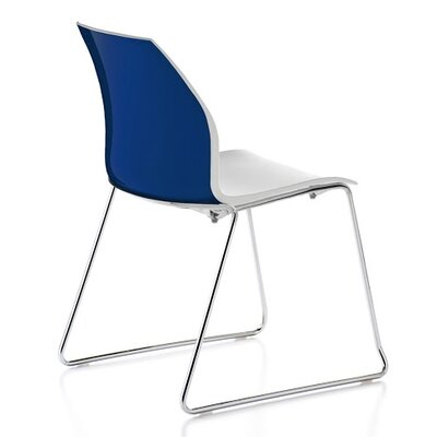 Vortex Sled Base Guest Chair Seat Color: Blue/White