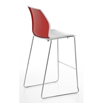 Vortex Sled Base Stool Finish: Red/White