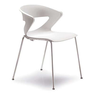 Kreature 4 Leg Guest Chair Seat Color: White