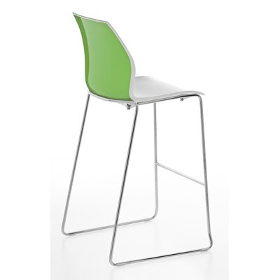 Vortex Sled Base Stool Finish: Green/White