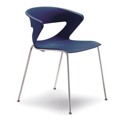 Kreature 4 Leg Guest Chair Seat Color: Blue