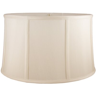 12 Faux Silk Drum Lamp Shade Color: Natural