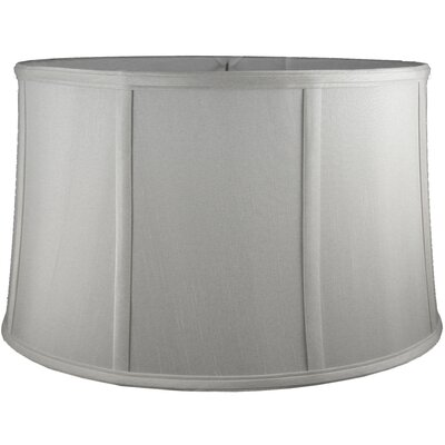 12 Faux Silk Drum Lamp Shade Color: Pebble