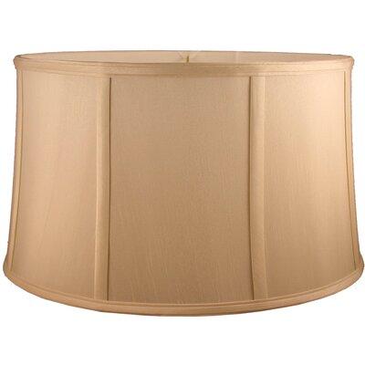 12 Faux Silk Drum Lamp Shade Color: Honey