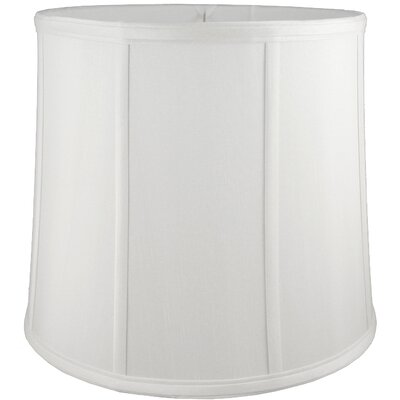 13 Faux Silk Drum Lamp Shade Color: White
