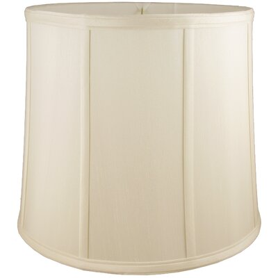 13 Faux Silk Drum Lamp Shade Color: Ivory