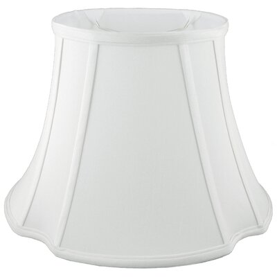 9 Faux Silk Bell Lamp Shade Color: White