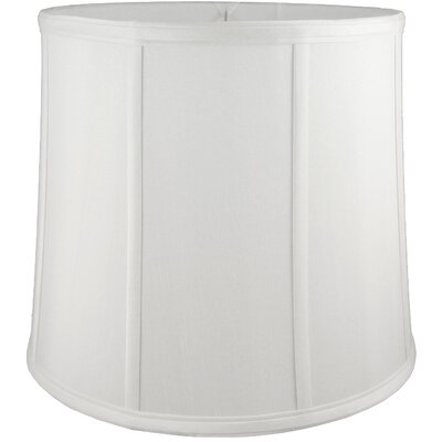 17 Faux Silk Drum Lamp Shade Color: White