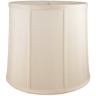 17 Faux Silk Drum Lamp Shade Color: Natural