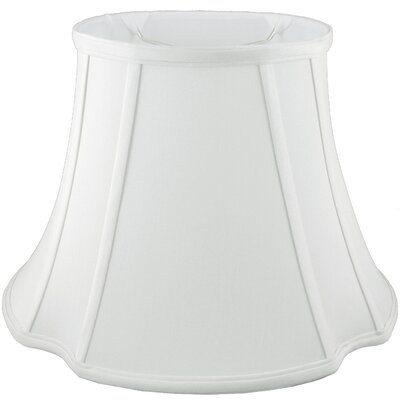 13.5 Faux Silk Bell Lamp Shade Color: White
