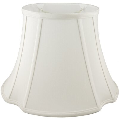13.5 Faux Silk Bell Lamp Shade Color: Cream