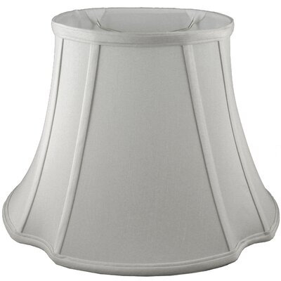 13.5 Faux Silk Bell Lamp Shade Color: Pebble