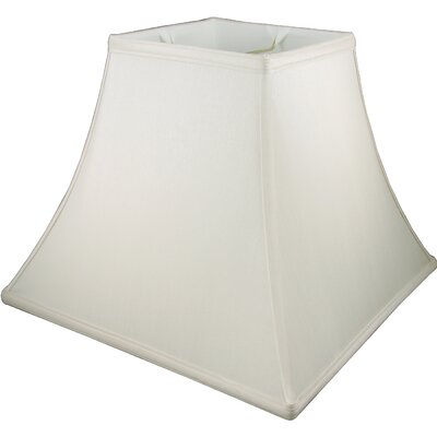 6 Faux Silk Bell Candelabra Shade Color: Cream