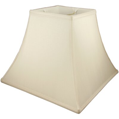 17 Faux Silk Bell Lamp Shade Color: Honey