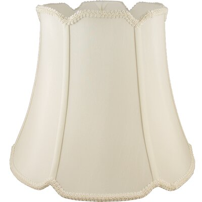 22 Faux Silk Bell Lamp Shade Color: Ivory