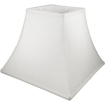 12 Faux Silk Bell Lamp Shade Color: White