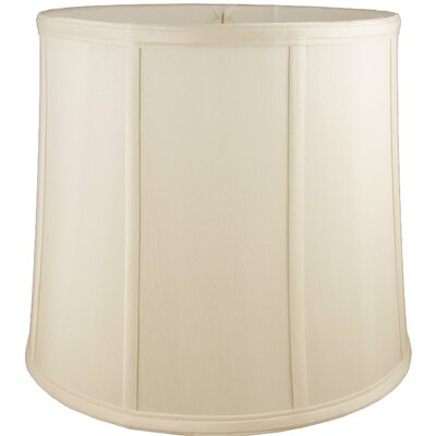 12 Faux Silk Drum Lamp Shade Color: Ivory
