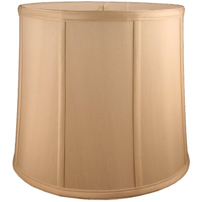 12 Faux Silk Drum Lamp Shade Color: Honey