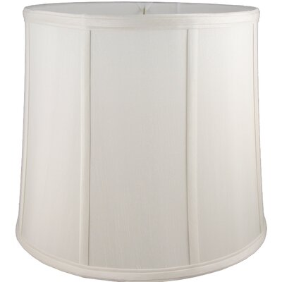 14 Faux Silk Drum Lamp Shade Color: Cream